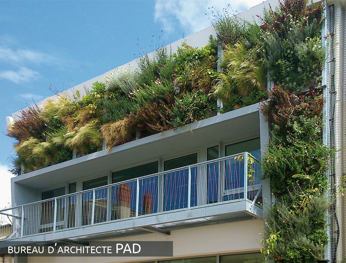 Mur végétalisé 1 face épaisseur 25 cm - Vendée -