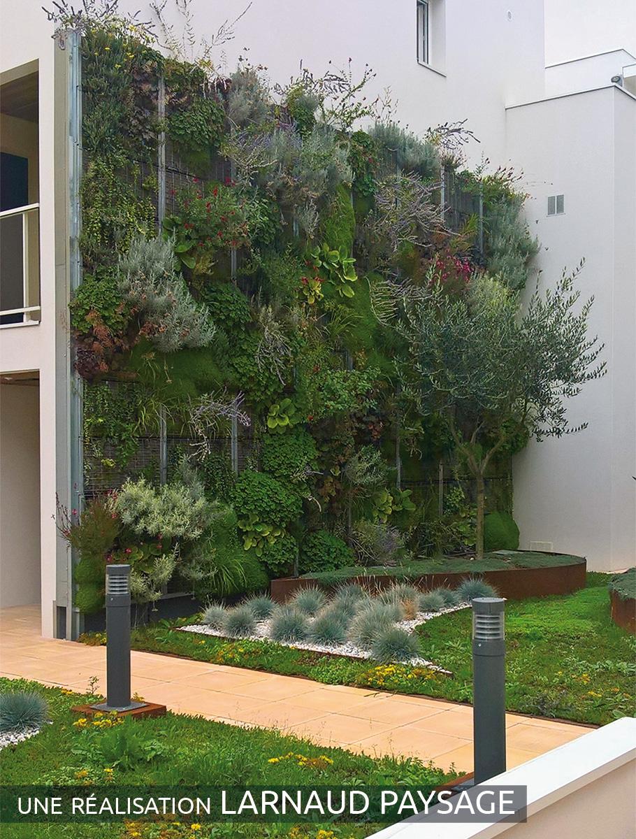Vue d'ensemble mur végétalisé - La Rochelle -