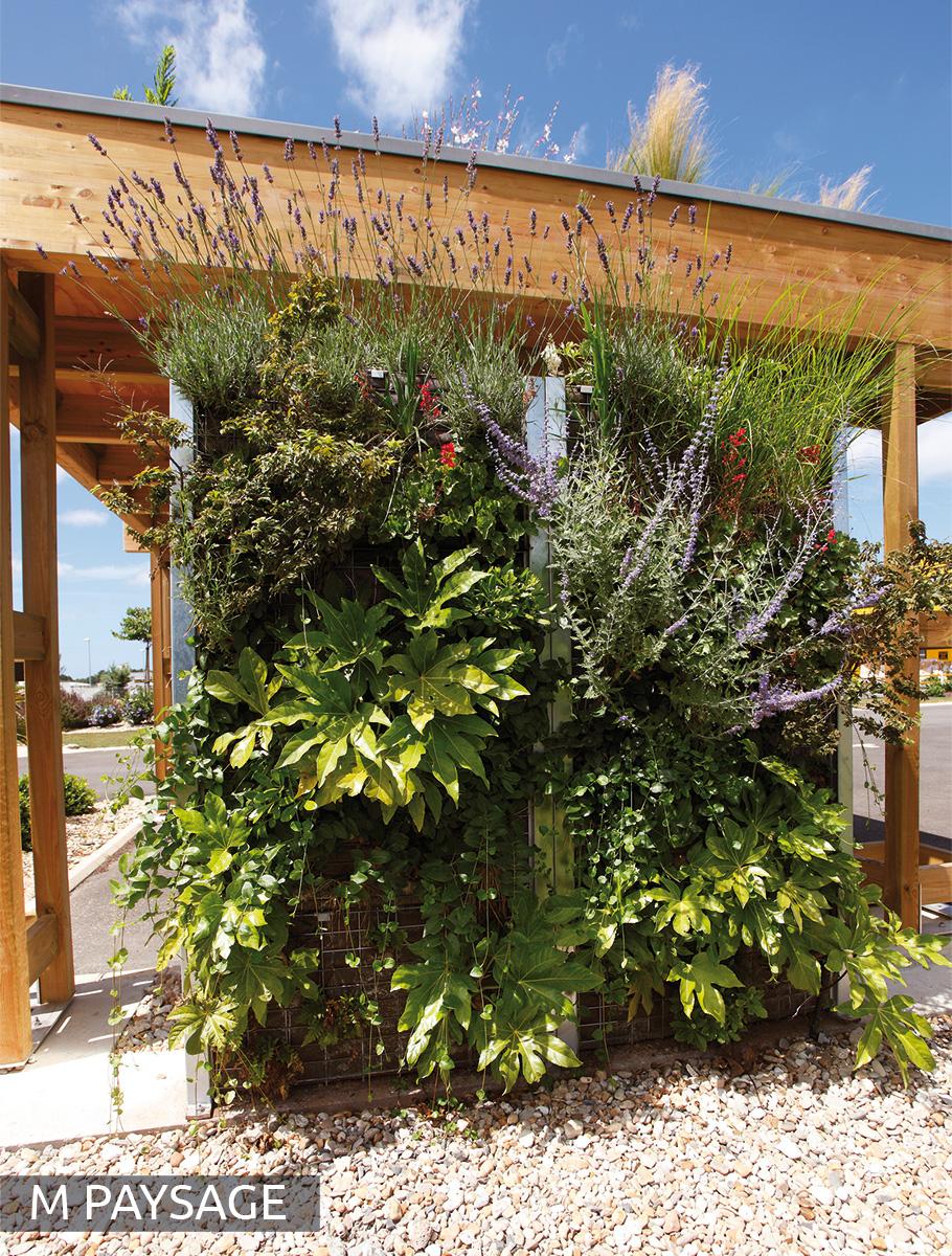 Mur végétalisé expo paysagiste - Vendée -
