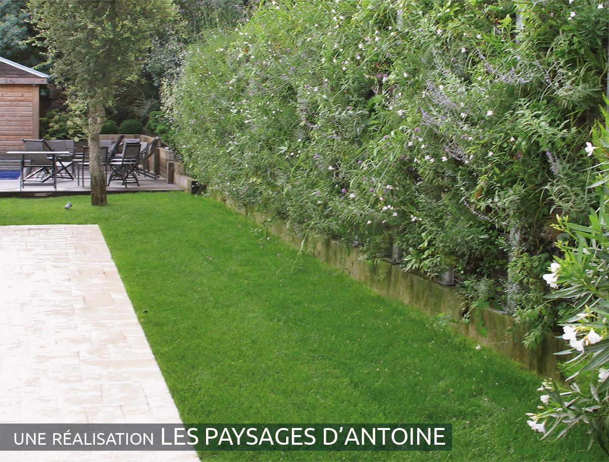 Mur de séparation végétalisé 2 faces - Gironde -