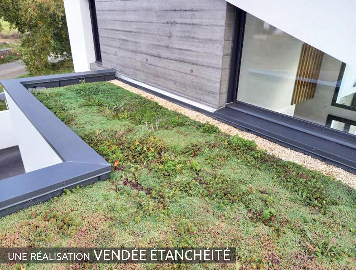 Toiture végétalisée terrasse - Vendée -