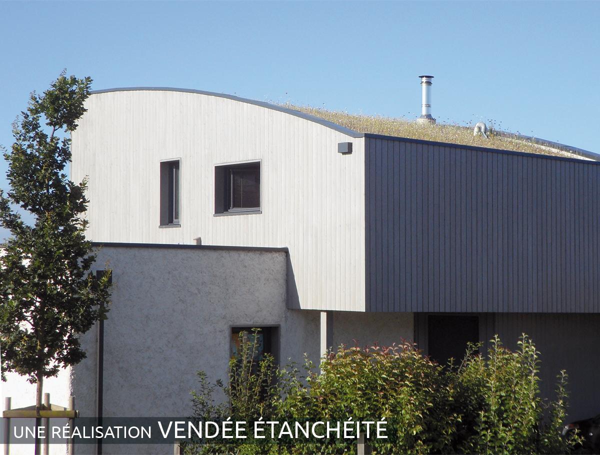 Toiture végétalisée extensive maison individuelle - Vendée -