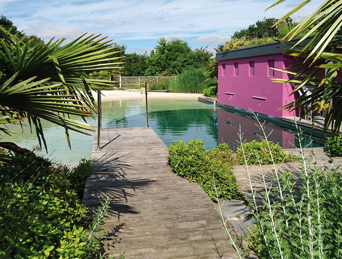 Intégration végétale du bassin de baignade naturelle - Vendée -