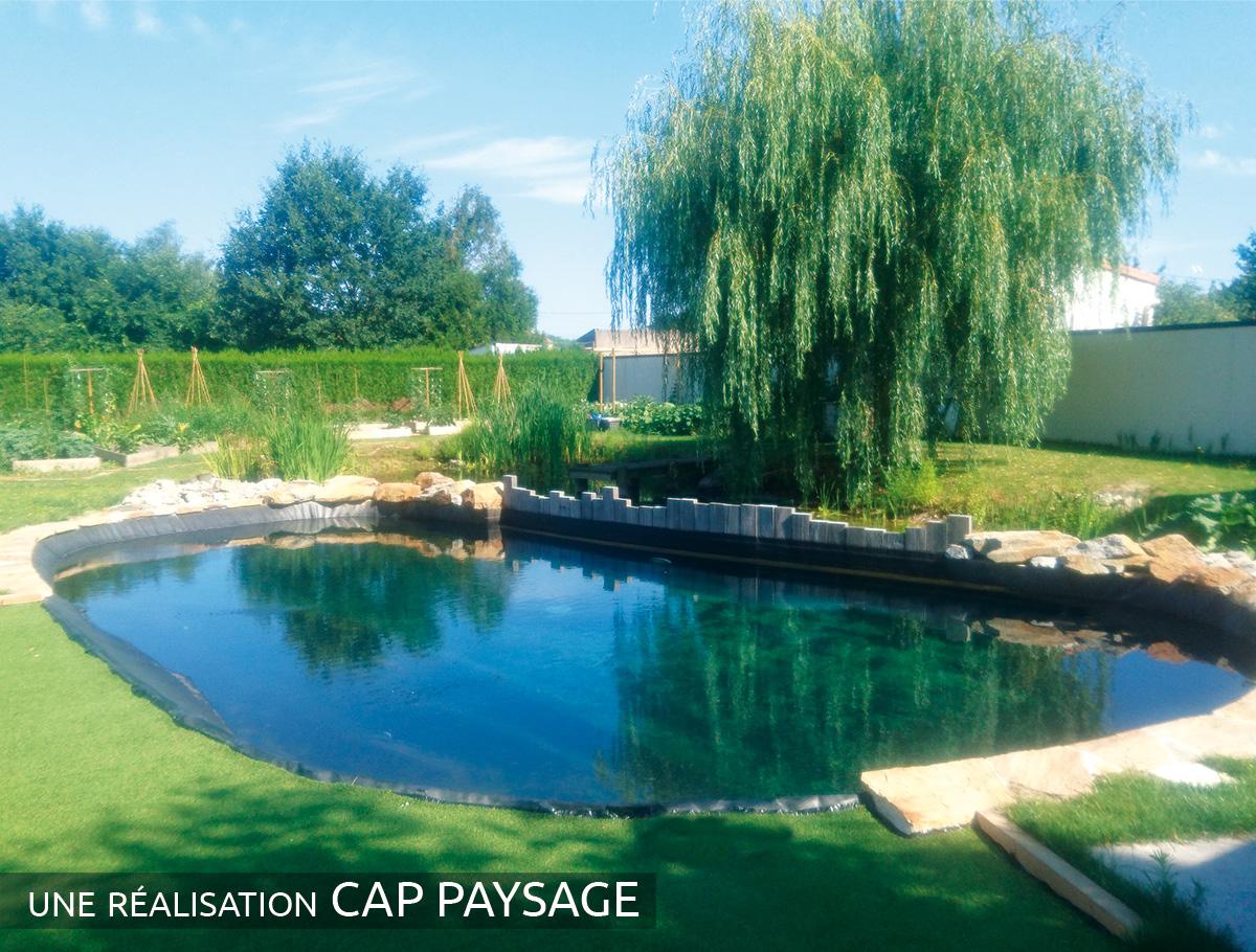 Bassin naturel de forme libre, une intégration parfaite - Vendée
